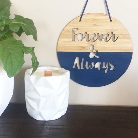 Forever & Always Wall Hanging