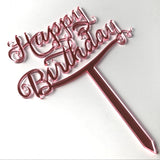 Happy Birthday Cake Topper (Script)