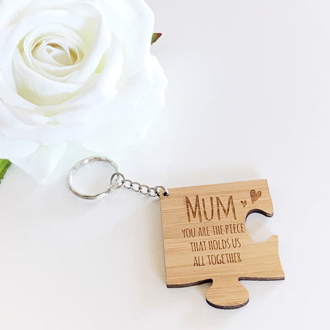 Mum Puzzle Key Ring