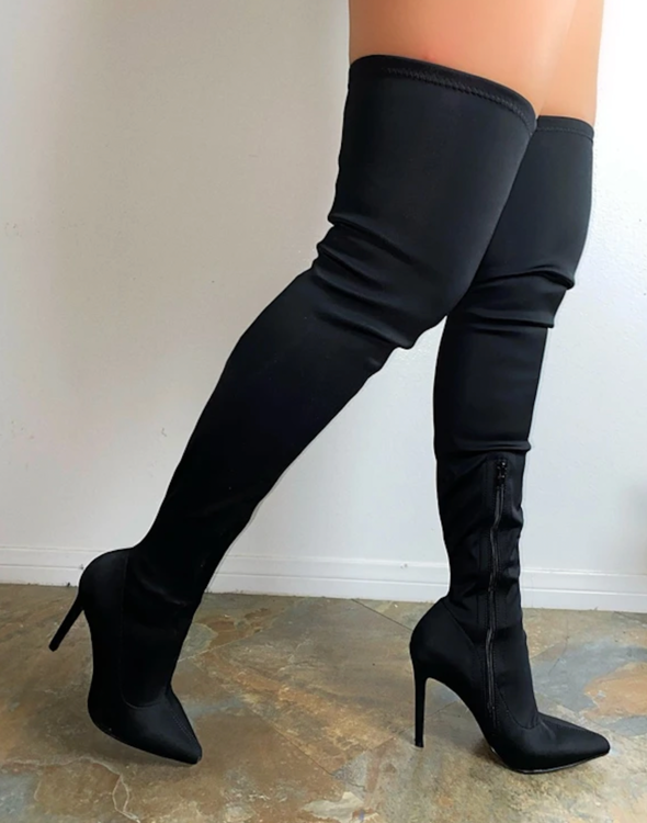 The Jazelle thigh-high boots by LRJ boutique