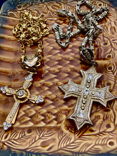SOLD - gold pectoral crosses