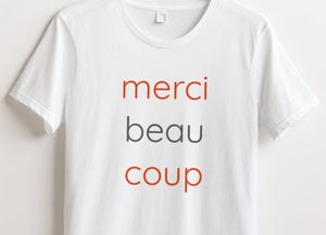 merci beau coup women's cotton t-shirt