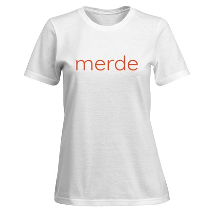 merde women's cotton t-shirt