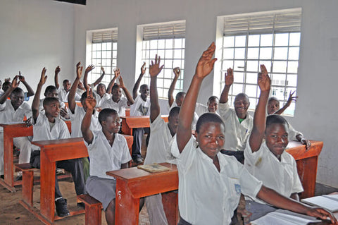 Students in class at the Bwesumbu High School[