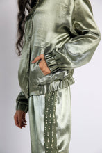 Load image into Gallery viewer, Bomber handwoven silk Jacket Co-ord (Set of2)