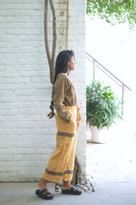 Sungold Asymetric Handwoven Cotton Linen Pants