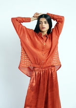 Load image into Gallery viewer, Gusset Shirt handwoven cotton silk Co-ord (Set of 2)