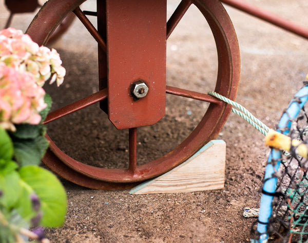 Wheel Detail from JaneR Designs Shepherd Hut