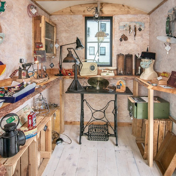 Interior of Shepherd Hut by JaneR Designs