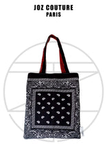 Afbeelding in Gallery-weergave laden, Tote bag en tissu bandana réversible