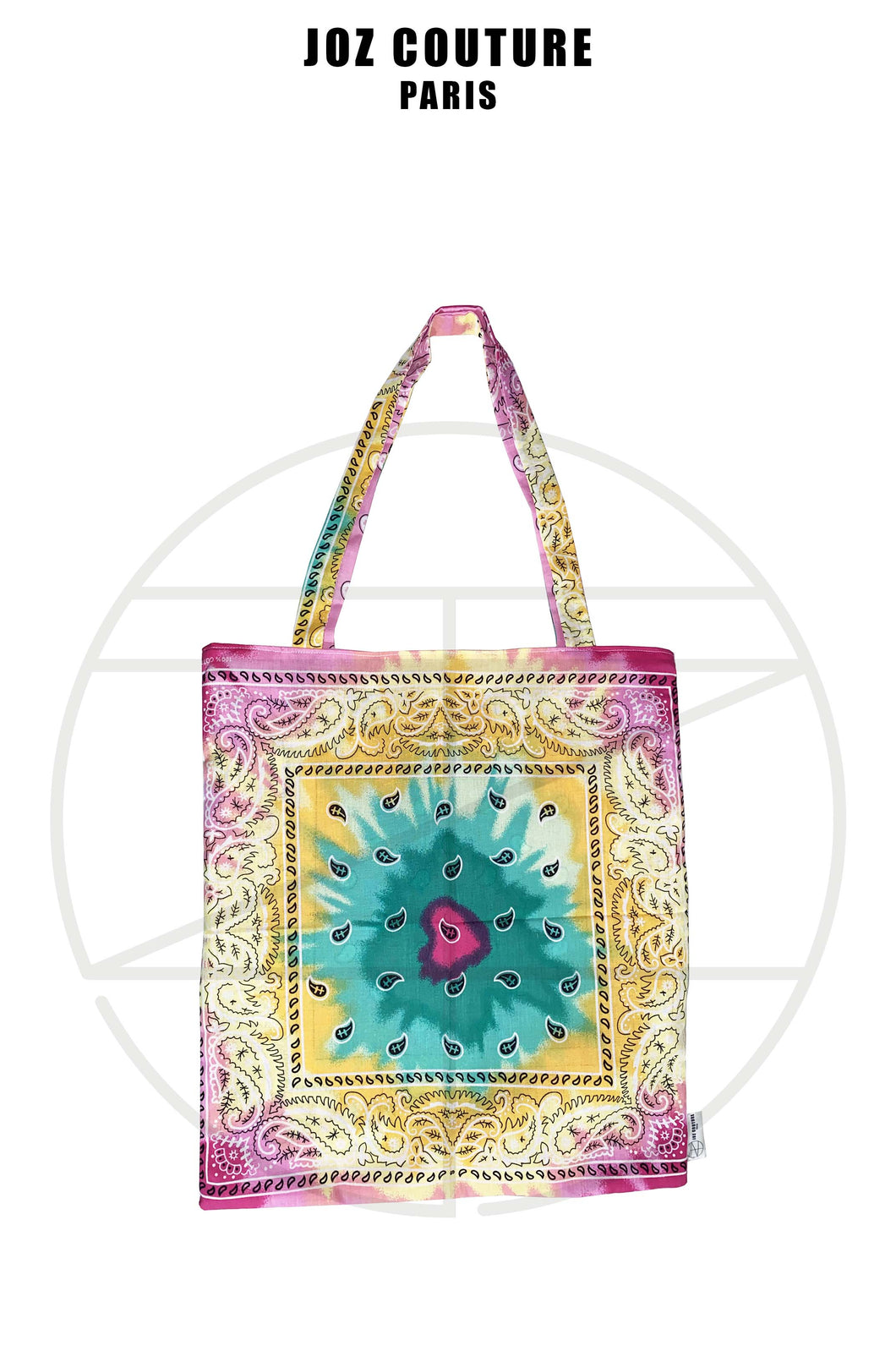 Tote bag en tissu bandana tie and dye