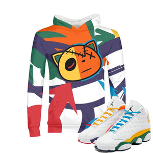 Arrows Pointed (Playground Retro 13's) Kids Hoodie - Sneaker Combos