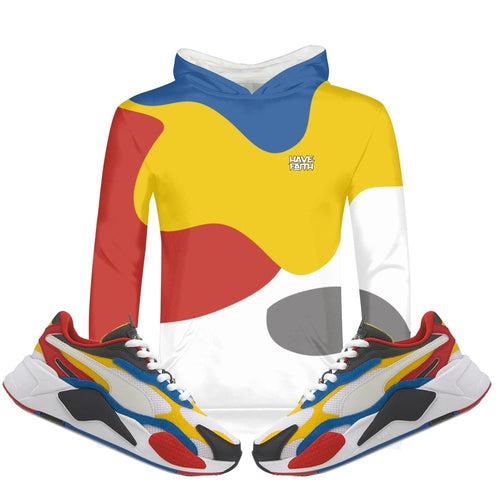 Color Block (Puma RS-X³ Puzzle) Kids Hoodie - Sneaker Combos