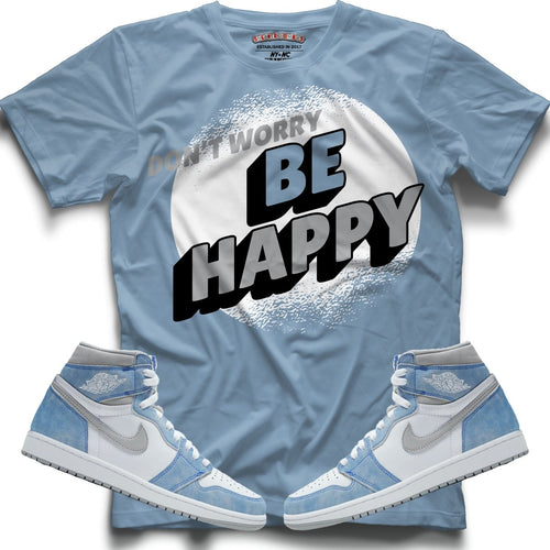 Dont Worry Be Happy (High Og Hyper Royal 1's) T-Shirt - Sneaker Combos