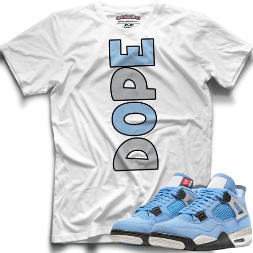 DOPE (Retro 4 University Blue) T-Shirt - Sneaker Combos