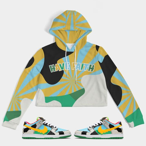Have Faith (Ben & Jerry Nike SB) Women's Cropped Hoodie - Sneaker Combos