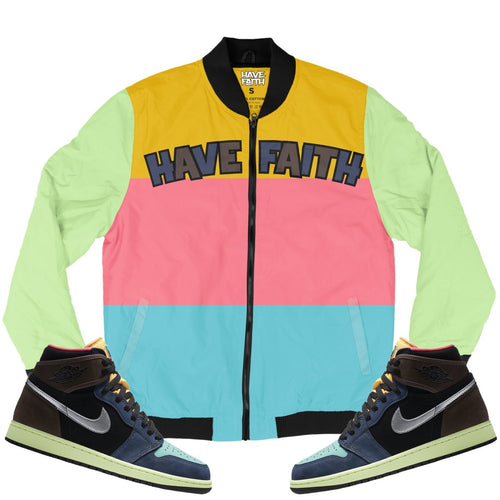 Have Faith (Bio Hack Retro 1's) Bomber Jacket - Sneaker Combos