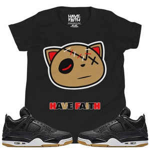 Have Faith (Black Laser 4's) Youth Short Sleeve T-Shirt - Sneaker Combos