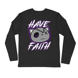 Have Faith (Concord 11's) Long Sleeve Fitted Crew - Sneaker Combos