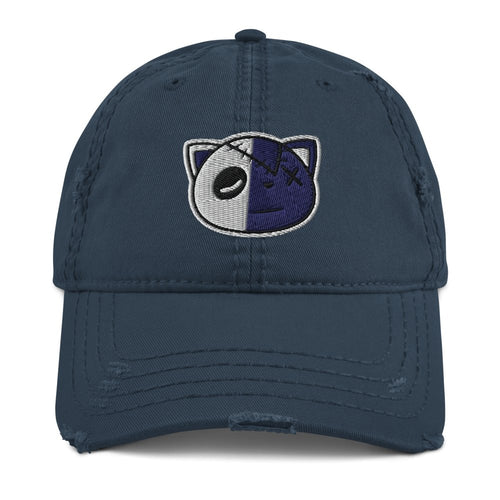 Have Faith (Indigo Stone Blue Retro 12's) Distressed Dad Hat - Sneaker Combos