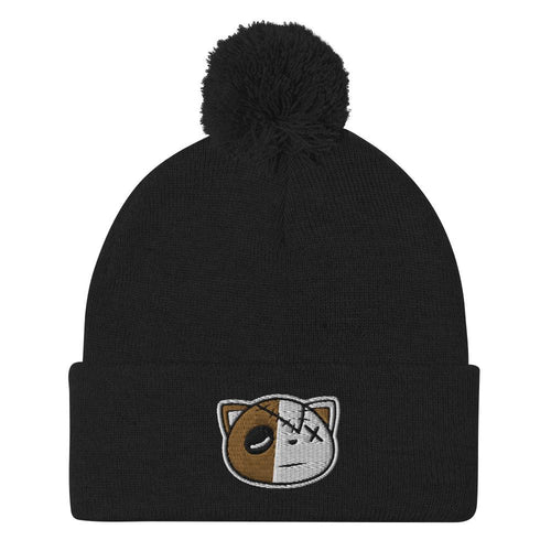 Have Faith (OG Black Metallic Gold Retro 1's) Pom-Pom Beanie - Sneaker Combos
