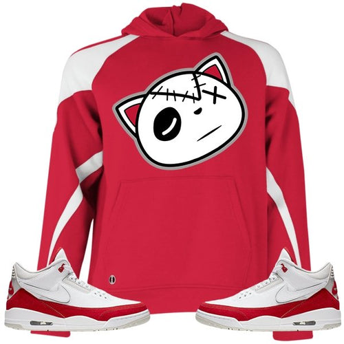 Have Faith (Tinker University Red 3's) Kids Hoodie - Sneaker Combos