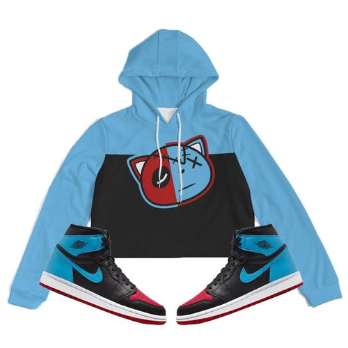 Have Faith (UNC To CHI Retro 1's) Women's Cropped Hoodie - Sneaker Combos