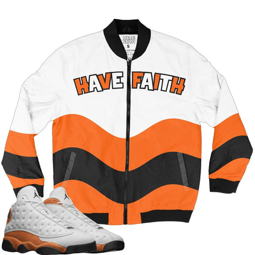 Have Faith Wave (Starfish Retro 13's) Bomber Jacket - Sneaker Combos