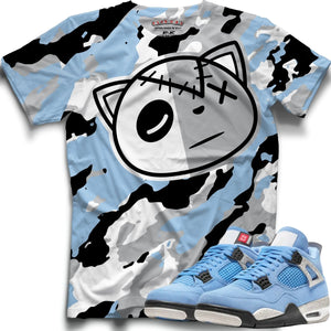 HF Camo (Retro 4 University Blue) T-Shirt - Sneaker Combos
