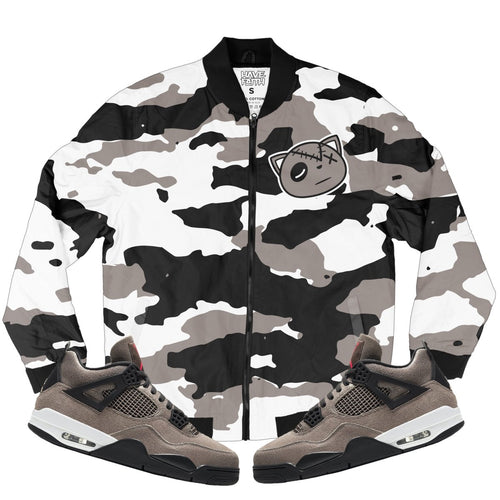 HF Camo (Taupe Retro 4's) Bomber Jacket - Sneaker Combos