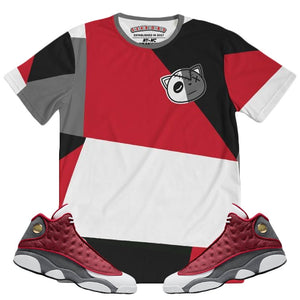HF Color Block(Retro 13 Red Flint) T-Shirt - Sneaker Combos