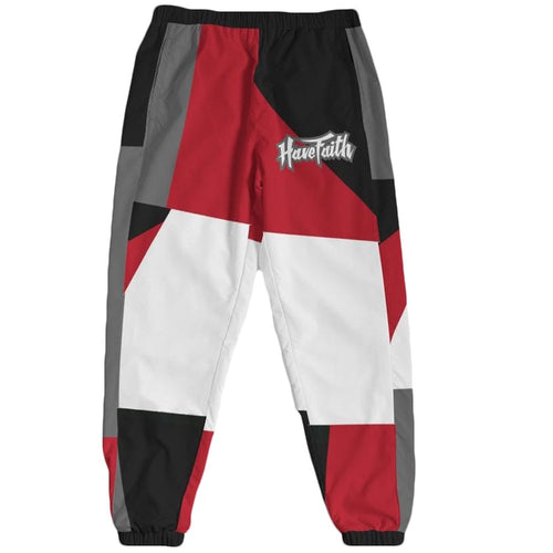 HF Color Block(Retro 13 Red Flint) Track Pants - Sneaker Combos