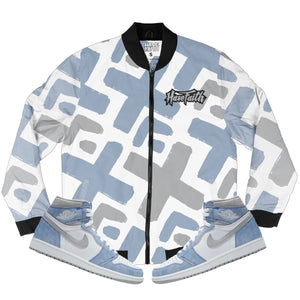 HF EX (High Og Hyper Royal 1's) Bomber Jacket - Sneaker Combos