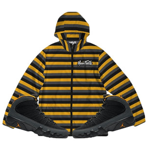 HF Stripe (Air Jordan 9 University Gold) Windbreaker - Sneaker Combos