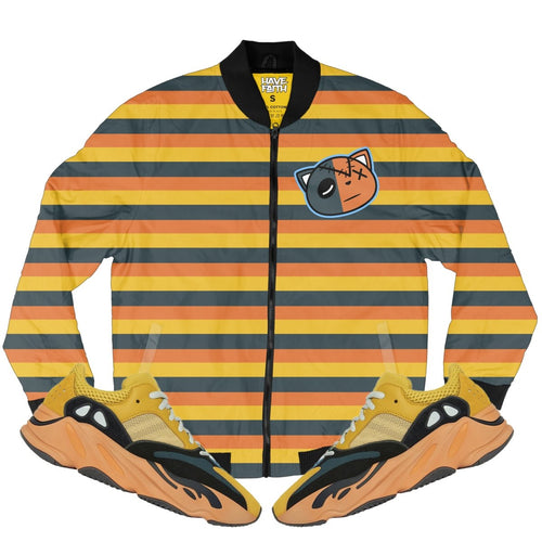 HF Stripes (Yeezy Boost 700 Sun) Bomber Jacket - Sneaker Combos