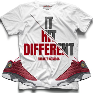 It Hit Different (Retro 13 Red Flint) T-Shirt - Sneaker Combos