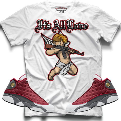 It's All Love (Retro 13 Red Flint) T-Shirt - Sneaker Combos