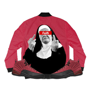 **** YOU (Reverse Flu Game Retro 12's) Bomber Jacket - Sneaker Combos