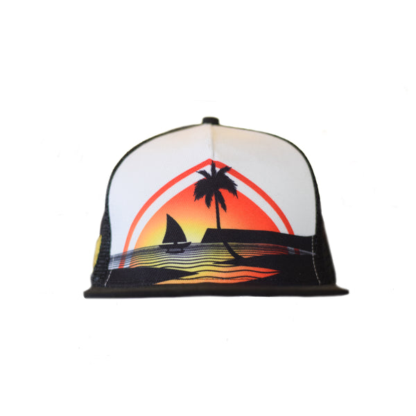 Guam Sunset Trucker Snapback