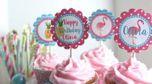 Load image into Gallery viewer, Flamingo Birthday Invitation