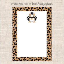 Load image into Gallery viewer, Leopard Monogram Notepad