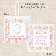 Load image into Gallery viewer, Liberty Floral Monogram Bag Tag