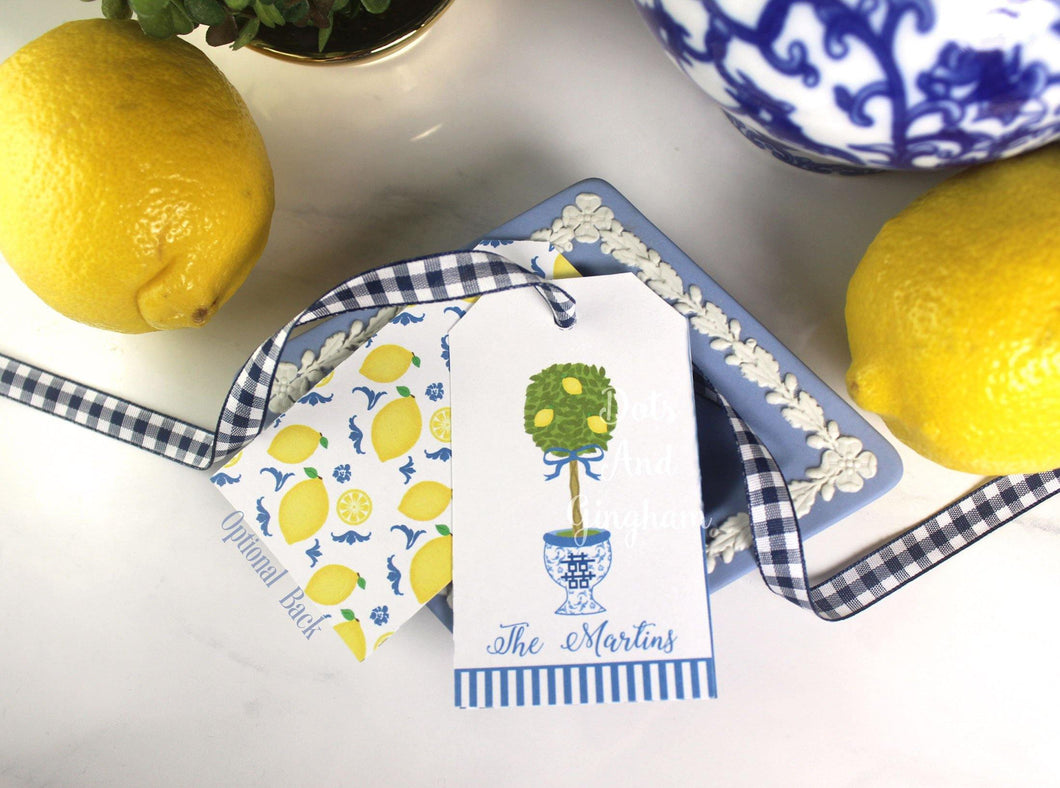 Lemon Topiary Gift Tags