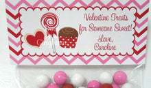 Load image into Gallery viewer, Valentine Sweet Treats Bag Topper, Valentine Candy Treat Bag Topper, Classroom Valentine, Children's Valentine Printable