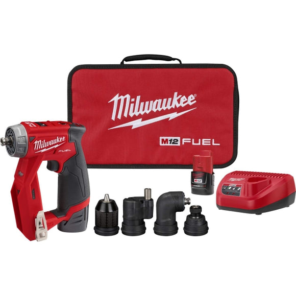 M12 FUEL 12-Volt Lithium-Ion Brushless Cordless 4-in-1 Installation 3/8 in. Drill Driver Kit