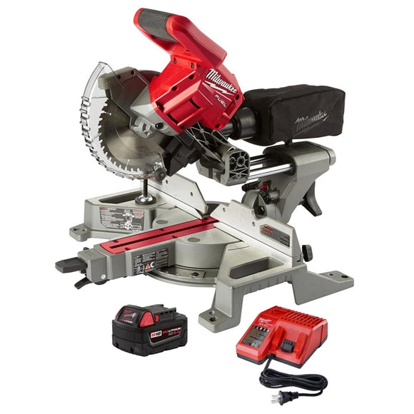 M18 FUEL 18-Volt Lithium-Ion Brushless Cordless 7-1/4 in. Dual Bevel Sliding Compound Miter Saw Kit