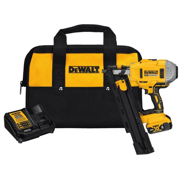 20-Volt MAX XR Lithium-Ion Cordless Brushless 2-Speed 21° Plastic Collated Framing Nailer Kit