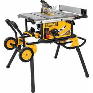 15 Amp Corded 10 in. Job Site Table Saw with Rolling Stand