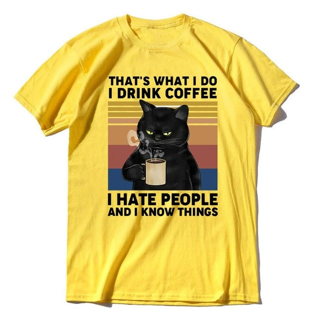 I Drink Coffee Vintage Men's T-Shirt