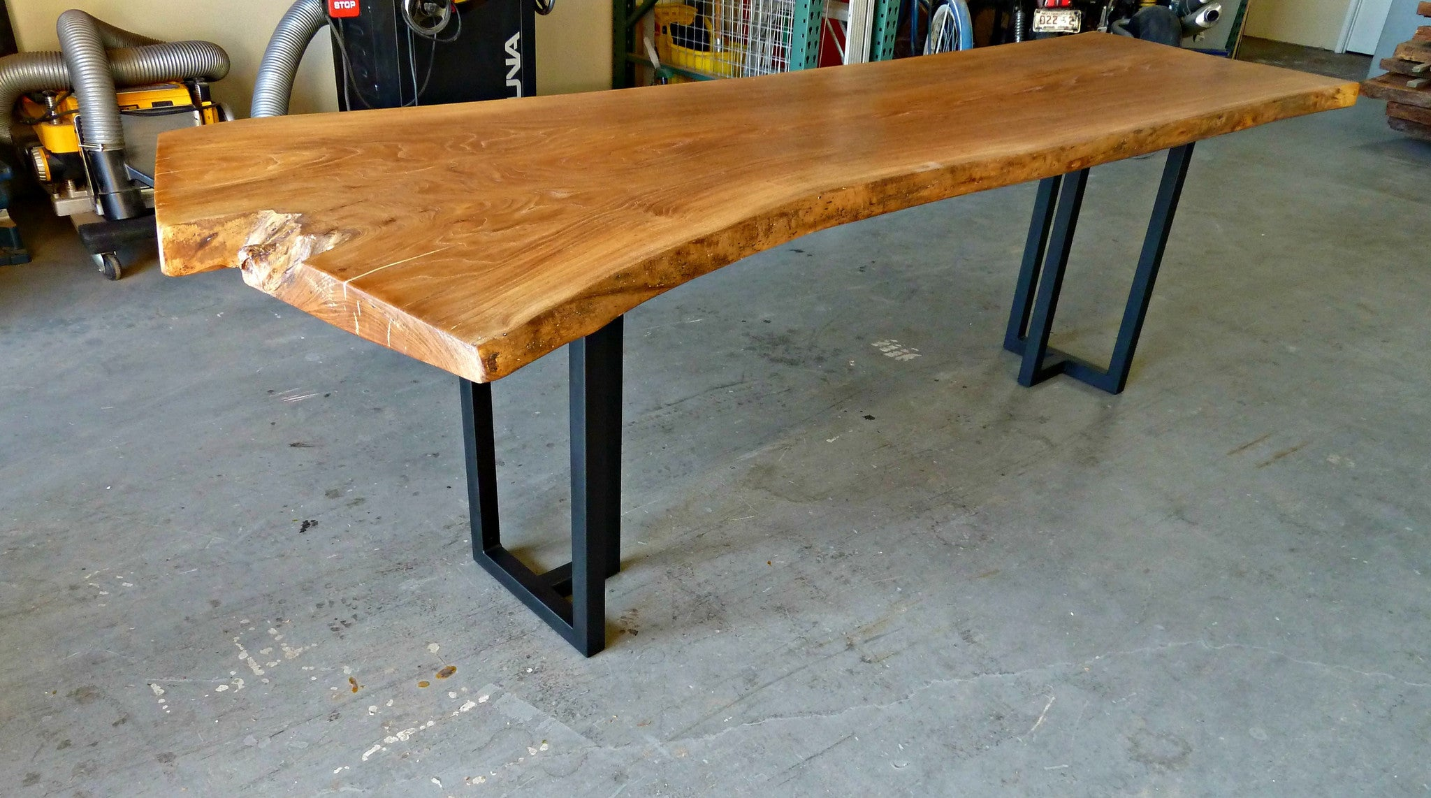 American Elm Live Edge Dining Table